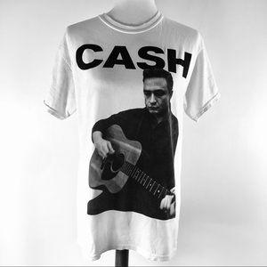Johnny Cash Distressed Tee Licensed by Crown Manf
